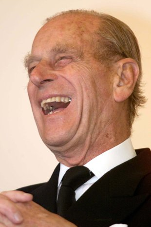 Image result for prince philip laughing