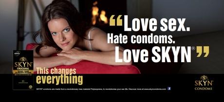 Skyn condom commercial