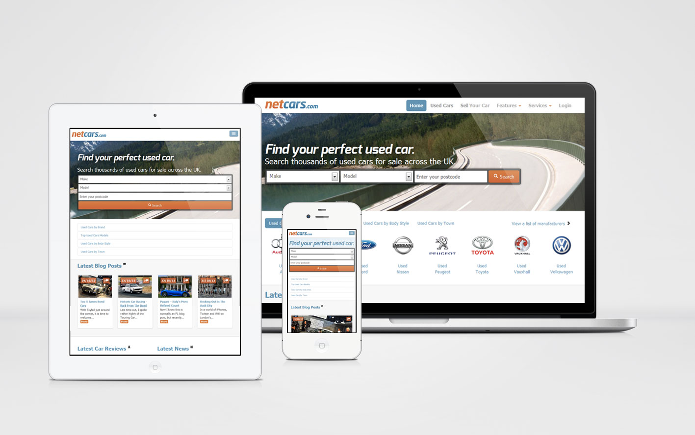 Netcars.com has launched the first fully responsive website in the ...