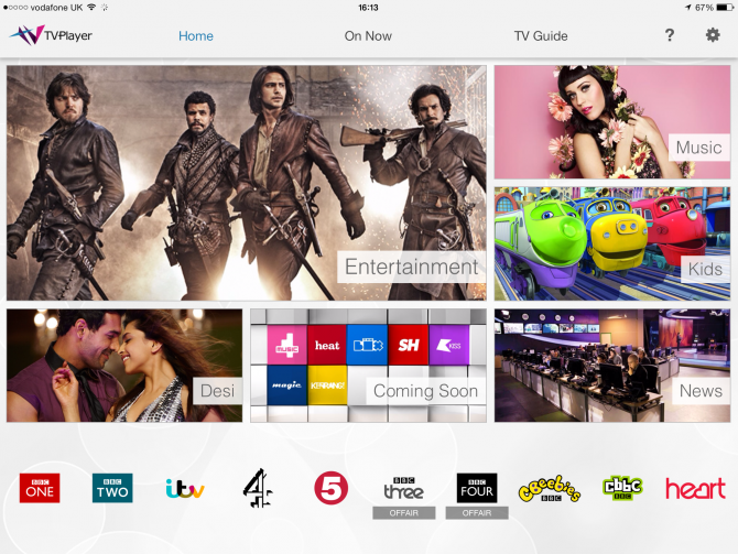 TVPlayer tablet app streams BBC, ITV, C4, Channel 5 and 20