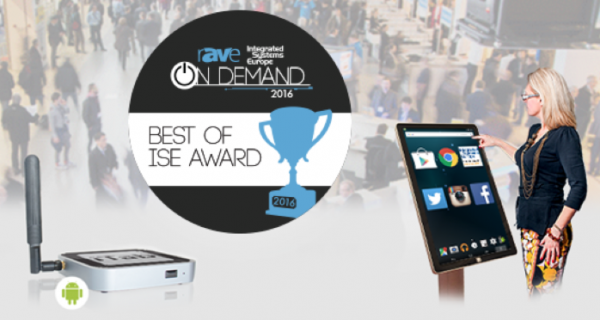 Events : Winning a 'Digital Signage' Award (Best of ISE) – Giant iTab