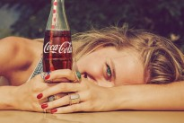 """Here's a Coca Cola print ad which is absolutely brilliant. Quite naughty for Coke, with wit and craft"""
