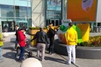 Tropicana has unveiled a 5m-tall digital billboard dispensing free orange juice