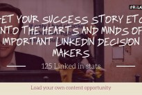 125 Linked in stats + load your own content opportunity