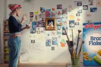 Leo Burnett and Kellogg's asks people to get creative with Kellogg's bran flakes