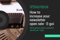 How to increase your newsletter open rate … with these 2 magic words ..by Maria Spínola, E-goi