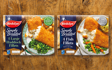 New packaging designs for Simply Breaded and Harry Ramsden's product ranges