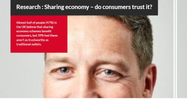 Research : Sharing economy – do consumers trust it?