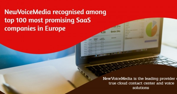 Newvoicemedia recognised among top 100 most promising saas for Design firms in europe