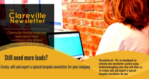 Still need leads? : How we can create, edit and export a special bespoke newsletter for your company – it's called Newslettered