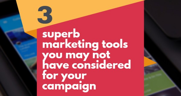 3 marketing tools you probably haven't considered