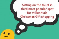 Sitting on the toilet is third most popular spot for millennials Christmas Gift shopping
