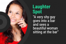 Laughter Spot : A very shy guy goes into a bar and sees a beautiful woman sitting at the bar