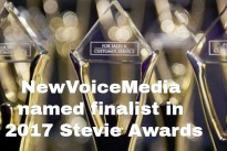 NewVoiceMedia named finalist in 2017 Stevie Awards for sales & customer service
