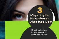 Three ways to give your customer what they want …Great website …Easy delivery … Attentive service