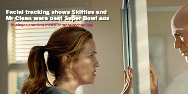 Facial tracking shows Skittles and Mr Clean were best Super Bowl ads