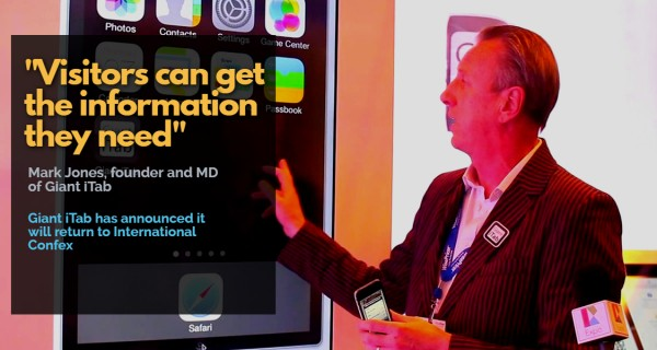 """How visitors can get the information they need and dive into the exhibition without any fuss""  …  Mark Jones, founder and MD of Giant iTab"