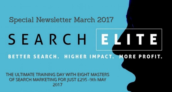 """A pretty cool new event"" – Search Elite – London May 9th 2017"