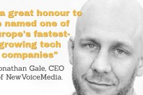 NewVoiceMedia recognised among top 50 fastest-growing tech companies in Europe