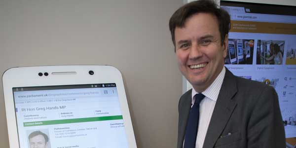 Giant iTab discusses UK event tech with Department of International Trade