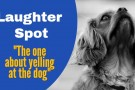 "Laughter Spot : ""The one about yelling at the dog"""
