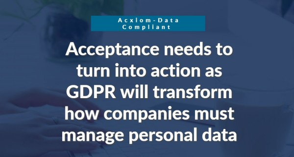Acxiom announces strategic partnership with Data Compliant to help brands accelerate GDPR readiness