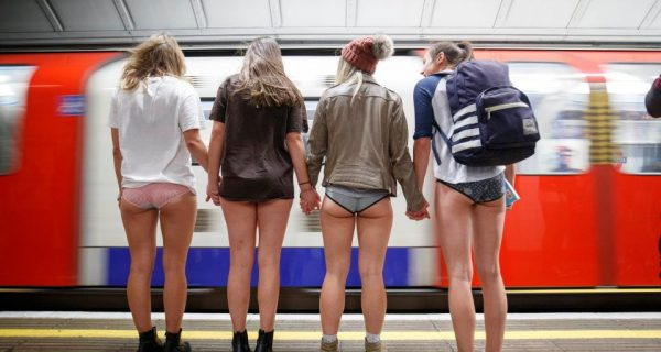London : Did you spot a lack of trousers while travelling today?