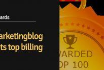 "Latest :  TheMarketingblog gets top billing in the ""Best UK Marketing Blogs list"""