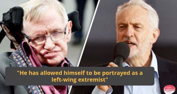 "Stephen Hawking has branded Jeremy Corbyn a ""disaster"" for the Labour Party"