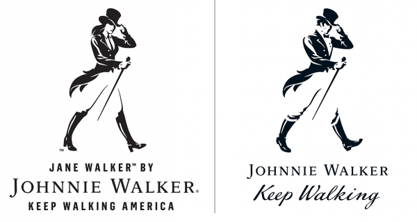 Johnnie Walker brand has added a female counterpart to its iconic mascot