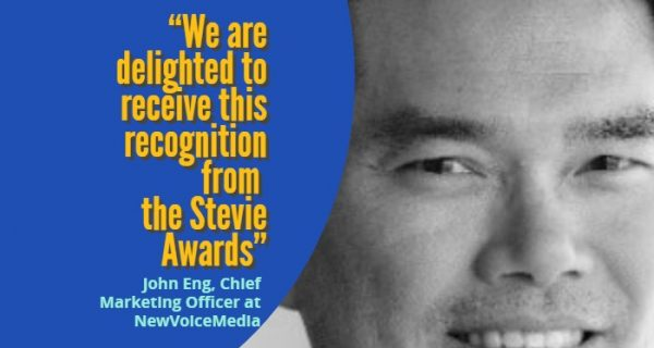 NewVoiceMedia wins 2018 Stevie Award for sales and customer service