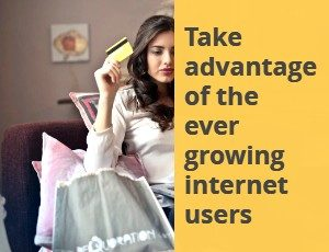 women shopping on phone market your business online