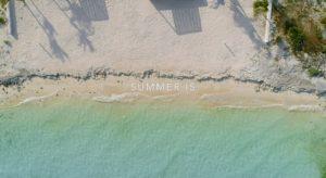summer is on the beach