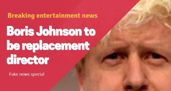 Breaking News : Boris Johnson to be the replacement director for Daniel Craig's last Bond movie
