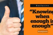 """Knowing when enough is enough"""