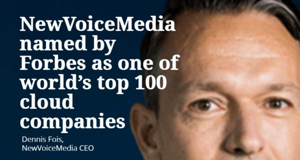 NewVoiceMedia named by Forbes as one of world's top 100 cloud companies