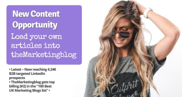 B2B Marketers : Get guaranteed article coverage in theMarketingblog – and it's unlimited