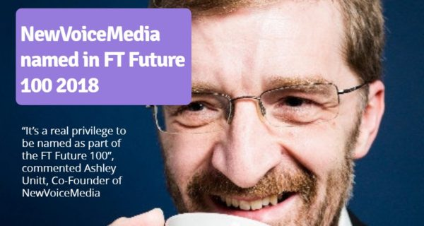 NewVoiceMedia named in FT Future 100 2018