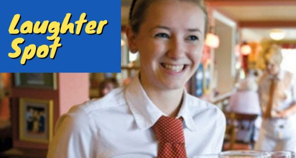 Laughter Spot :  Wetherspoons – because the waitresses wore mini-skirts