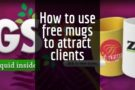How to use free mugs to attract clients at your next trade show