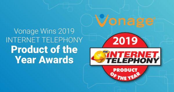 Vonage wins 2019 Internet Telephony Product of the Year Award