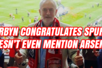 Blunders : Jeremy Corbyn ignores Arsenal's success