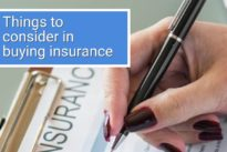 Things to consider in buying insurance