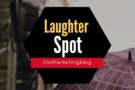 Umbrella Laughter Spot : 'He broke the last one'