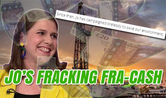 Jo Swinson's fracking problem