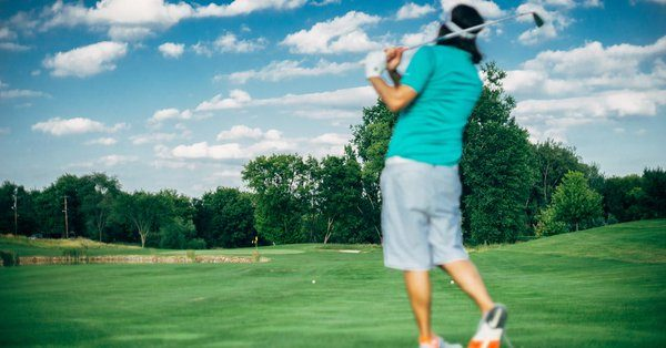 Sister Laughter Spot : Quite a talented golfer
