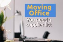 Why you need to have a supplier list before moving office