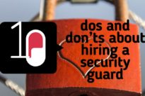 10 dos and don'ts about hiring a security guard for your business