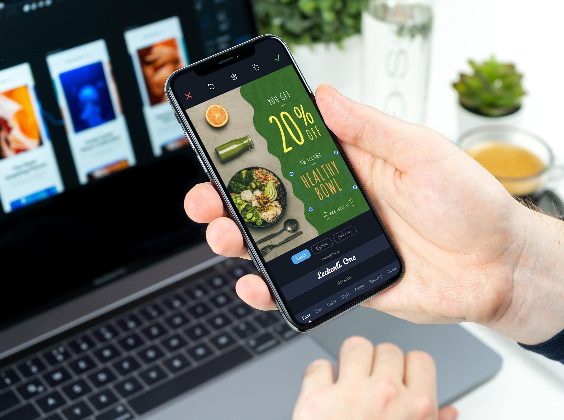 Crello launches an app for iOs + 20,000 ready made design