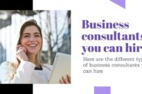 The different types of business consultants you can hire